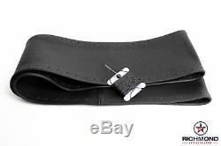 1998-2002 Dodge Ram 1500 2500 3500 -Leather Wrap Steering Wheel Cover, Black