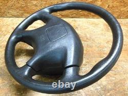 1998 2005 Jdm Mitsubishi Pajero Io H76 H66 Blk Steering Wheel W Center Cover Oem