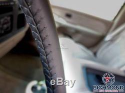 1999 2000 2001 2002 GMC Sierra 3500 SLT SLE -Leather Steering Wheel Cover Black