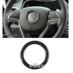 19pc Carbon Fiber Full Interior Steering wheel Cover Trim For Jeep Cherokee 2019