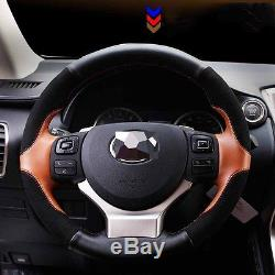 1P For Lexus NX300h NX200t IS250 2015-2016 Genuine Leather Steering Wheel Cover