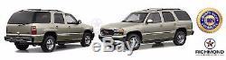 2000-2002 GMC Yukon / Yukon XL 1500 2500 -Black Leather Steering Wheel Cover