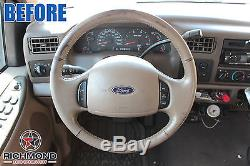 2000-2004 Ford Excursion Limited 6.0L Diesel -Leather Steering Wheel Cover, Tan
