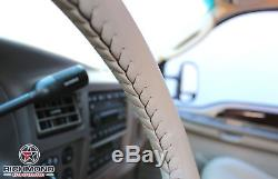 2000-2004 Ford Excursion-Tan Leather Steering Wheel Cover withNeedle & Lacing Cord