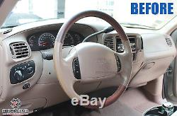 2001 2002 2003 Ford F-150 F150 King Ranch -Leather Steering Wheel Cover 2-Piece