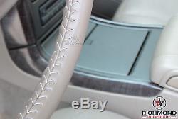 2001 2002 GMC Yukon Denali/Yukon XL 1500 Denali-Leather Steering Wheel Cover Tan