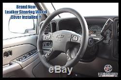 2003 2004 2005 2006 GMC Sierra 3500 SLT SLE -Leather Steering Wheel Cover Black