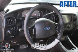 2003 Ford F-150 Harley-Davidson F150 -Black & Gray Leather Steering Wheel Cover