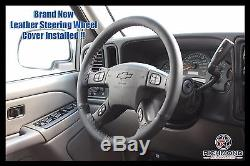 2004 2005 GMC Sierra 1500 1500HD SLT SLE Z71 -Leather Steering Wheel Cover Black