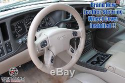 2004 2005 GMC Yukon Denali/Yukon XL 1500 Denali-Leather Steering Wheel Cover Tan