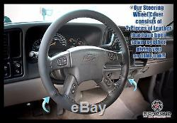 2005 2006 GMC Envoy XL XUV SLT SLE -Leather Wrap Steering Wheel Cover, Black