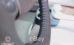 2005 Ford Excursion Limited 5.4L V8 Gas Black Leather Steering Wheel Cover