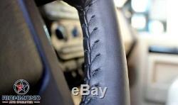 2006-2009 Dodge Ram 2500 -Dk Gray Leather Steering Wheel Cover withNeedle & Thread