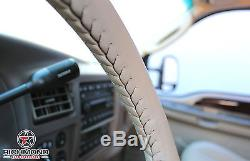2007 2008 2009 Ford Expedition EL MAX -Leather Wrap Steering Wheel Cover Tan