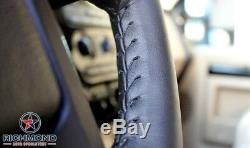 2007 2008 GMC Sierra 1500 SLT Denali SLE Z71 -Leather Steering Wheel Cover Black