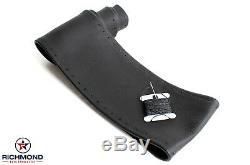 2007-2014 Chevy Silverado 1500 2500 3500-Leather Wrap Steering Wheel Cover Black