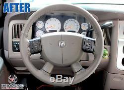 2007 Dodge Ram 1500 2500 3500 SLT Laramie -Dark Tan Leather Steering Wheel Cover