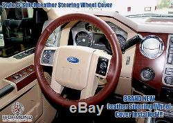 2008 F-250 F-350 King Ranch 4X4 2WD Diesel-Leather Steering Wheel Cover 3-Stitch