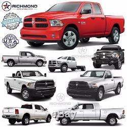 2009 2010 2011 2012 Dodge Ram Long Horn -Leather Wrap Steering Wheel Cover Black