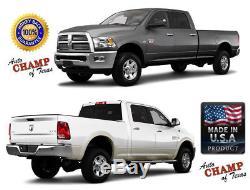 2009-2012 Dodge Ram 1500 2500 3500 -Leather Wrap Steering Wheel Cover, Dk Brown