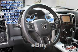 2012 Dodge Ram 1500 2500 3500 Sport SLT-Leather Wrap Steering Wheel Cover, Black