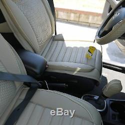 2016 Beige Seat Belt Cover Steering Wheel Shift Knob Front & Back Car Seat Cover