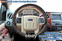 2016 Ford F250 F350 6.7L Turbo Diesel -King Ranch Leather Steering Wheel Cover
