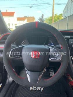 2017+ Civic Type R FK8 suede steering wheel wrap