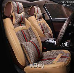 2017new PU Leather Car Seat Cushion For All Car + steering wheel cover