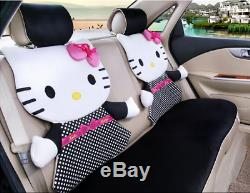 2020 New Hello Kitty Car Seat Covers Steering Wheel Cover Head restraint