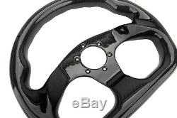 300MM Racing Steering Wheel Cover Carbon Fiber 6 Holes Universal Semicircle