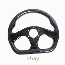 320MM Racing Car Steering Wheel Cover Carbon Fiber 6 Holes Universal Semicircle