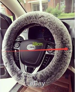 38cm Car SUV Steering Wheel Cover Warm Cover Non-Slip Interior Accessories Decor