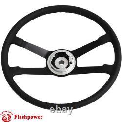 395mm Reproduction VDM Leather steering wheel Restoration Porsche 911 912 914