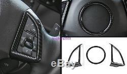 3PCS ABS Interior Steering Wheel Cover Trim For Chevrolet Camaro 2017 2018