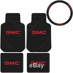 5pc Gmc Factory Floor Mats & Steering Wheel Cover