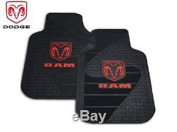 5 Pc Dodge Ram Front/Rear Rubber Floor Mats With Steering Wheel Cover