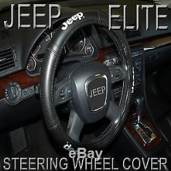 5 Pc Jeep Elite Mopar Seat Covers & Steering Wheel Cover Synth Leather