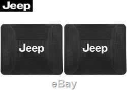 5 Pc Jeep Mopar Elite Front/Rear Rubber Floor Mats With Steering Wheel Cover