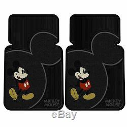 6pcs Disney Mickey Mouse Car Truck Front Rear Floor Mats Steering Wheel Cover