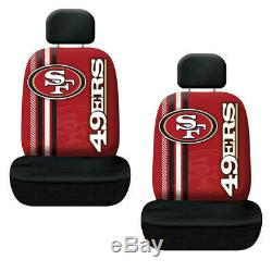 7pc NFL San Francisco 49ers Car Seat Covers Floor Mats Steering Wheel Cover Set
