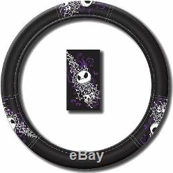 8 pc Nightmare Before Christmas Steering Wheel Cover Key Chain Sun Shade Set New