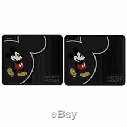 8pcs Disney Mickey Mouse Car Truck Front Rear Floor Mats Steering Wheel Cover