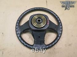 90-96 NISSAN Z32 300ZX 3-SPOKE LEATHER STEERING WHEEL with HORN COVER OEM