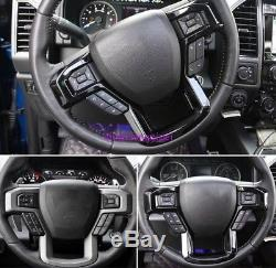 ABS Black Interior Steering wheel cover trim For Ford F150 F-150 2015 2016-2018