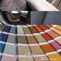 ALCANTARA 100% Italy Original Fabric Car Steering Wheel Cover Free Size
