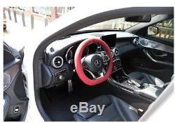 ALCANTARA Car Steering Wheel Cover 100% Original Italian Fabric 3-Colors
