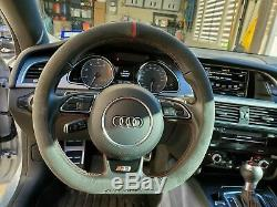 ALCANTARA STEERING WHEEL D type COVER for Audi S5 (Fit Audi TT)