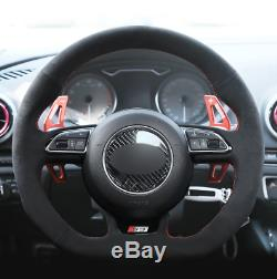 ALCANTARA Steering Wheel Cover for Audi A5 A7 RS 5 RS 7 S3 S4 2013-2015 2016