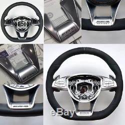 AMG Steering Wheel Cover Trim For 15+ Mercedes C E CLA GLA GLC (fit benz amg)